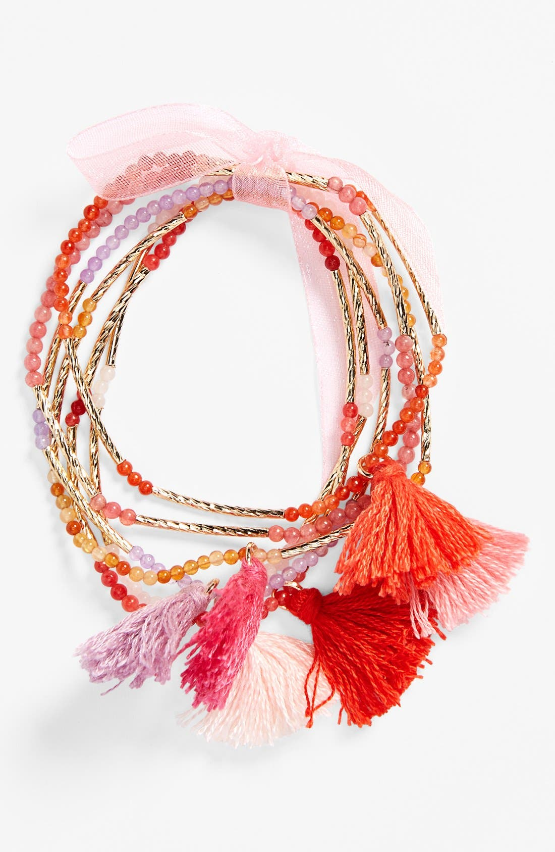 Alternate Image 1 Selected - Cara Bead Stretch Bracelet (Set of 6)