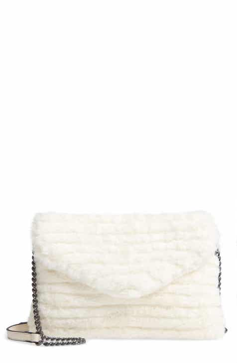 daa28331a965 Violet Ray New York Quilted Faux Fur Crossbody Bag