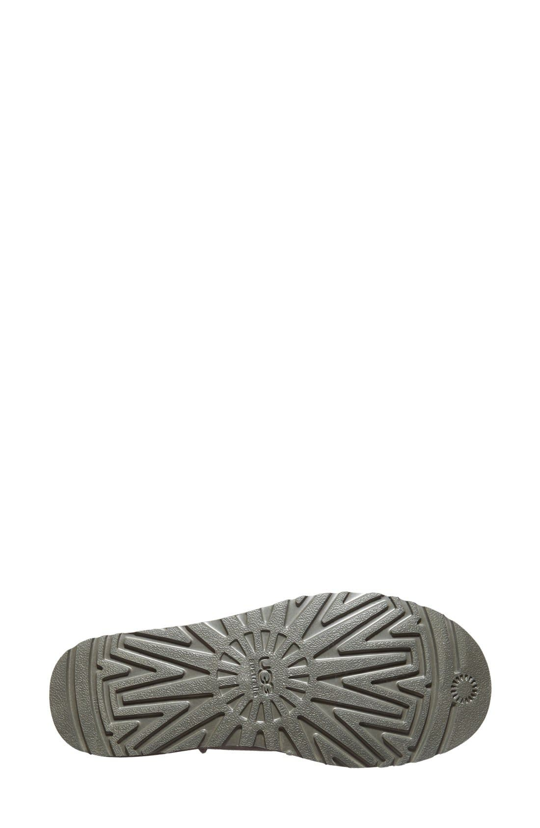 Classic Water Resistant Slipper,                             Alternate thumbnail 4, color,                             Grey