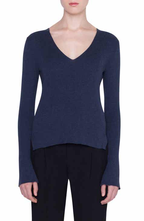 Akris punto Wool Split Cuff Sweater by AKRIS PUNTO