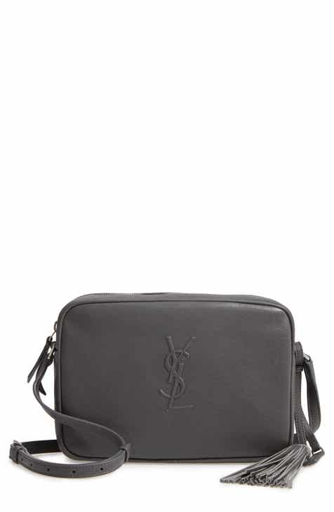 cd2b9b480f Saint Laurent Small Mono Leather Camera Bag
