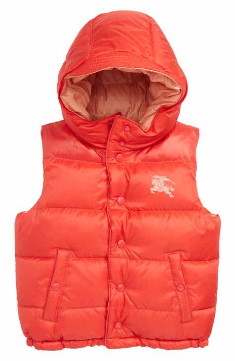 728f7dc3abf7 Burberry Skye Waterproof Hooded Down Vest (Toddler Girls