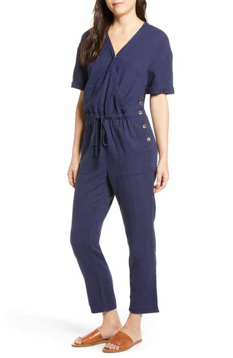 21df99493f05 Caslon® Faux Wrap Jumpsuit (Regular   Petite)