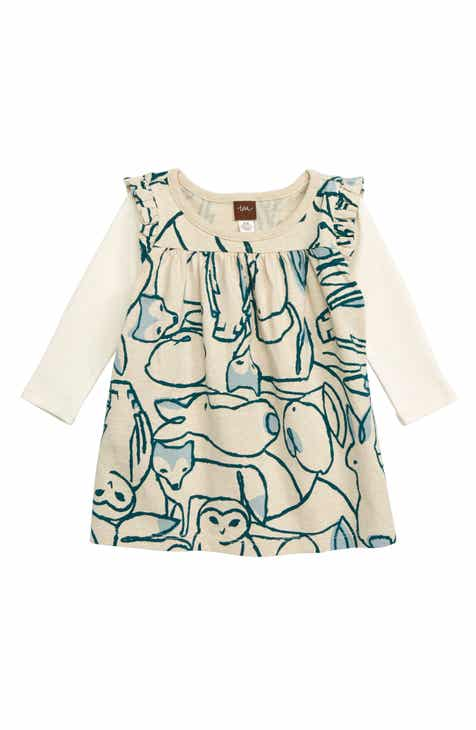 Tea Collection Arctic Animals Print Layered Dress (Baby)