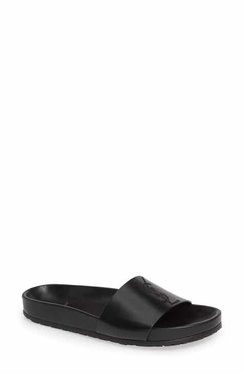 01d4995760b90d Saint Laurent Jimmy Logo Slide Sandal (Women)