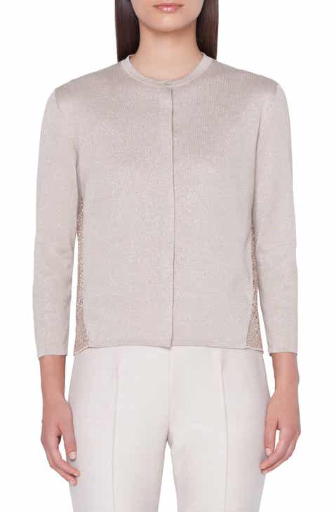 Akris Metallic Silk Cardigan by AKRIS