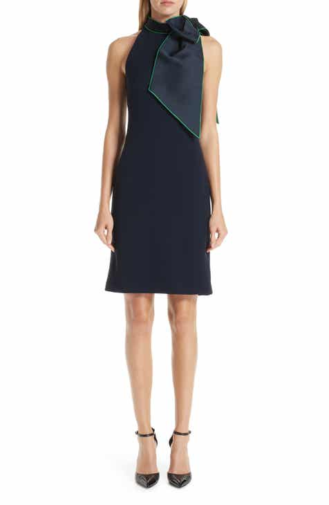 Brandon Maxwell Bow Neck Sheath Dress by BRANDON MAXWELL