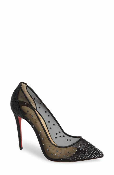 62ec436488f1 Christian Louboutin Follies Strass Embellished Mesh Pump (Women) (Nordstrom  Exclusive)