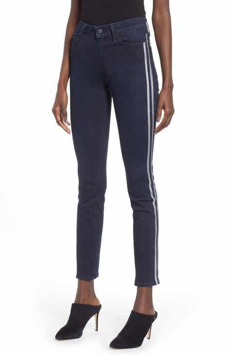 a4a68206cbf PAIGE Transcend Vintage - Hoxton High Waist Ankle Peg Jeans (Indigo  Metallic Tux Stripe)