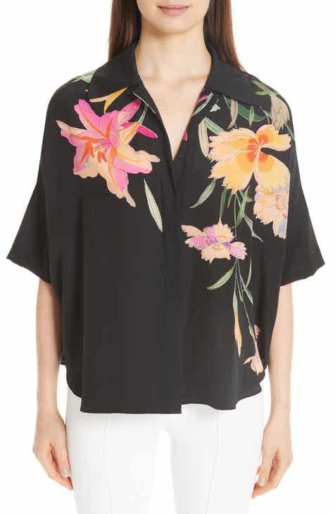 9d84b2db37dfe9 Etro Floral Print Silk Blouse