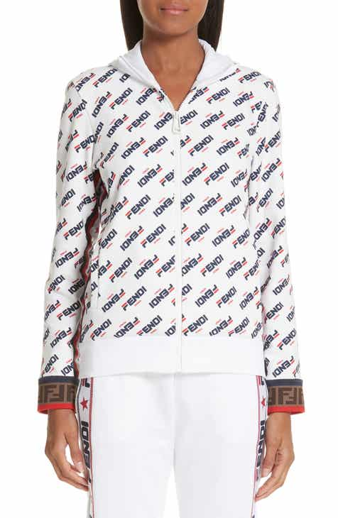 e8336bc5ea5e9 Fendi x FILA Mania Logo Jersey Jacket