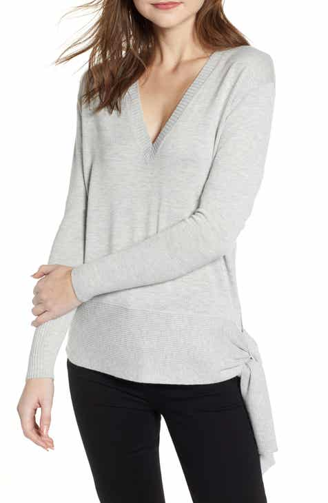 516102d50f Chelsea28 Side Tie V-Neck Sweater