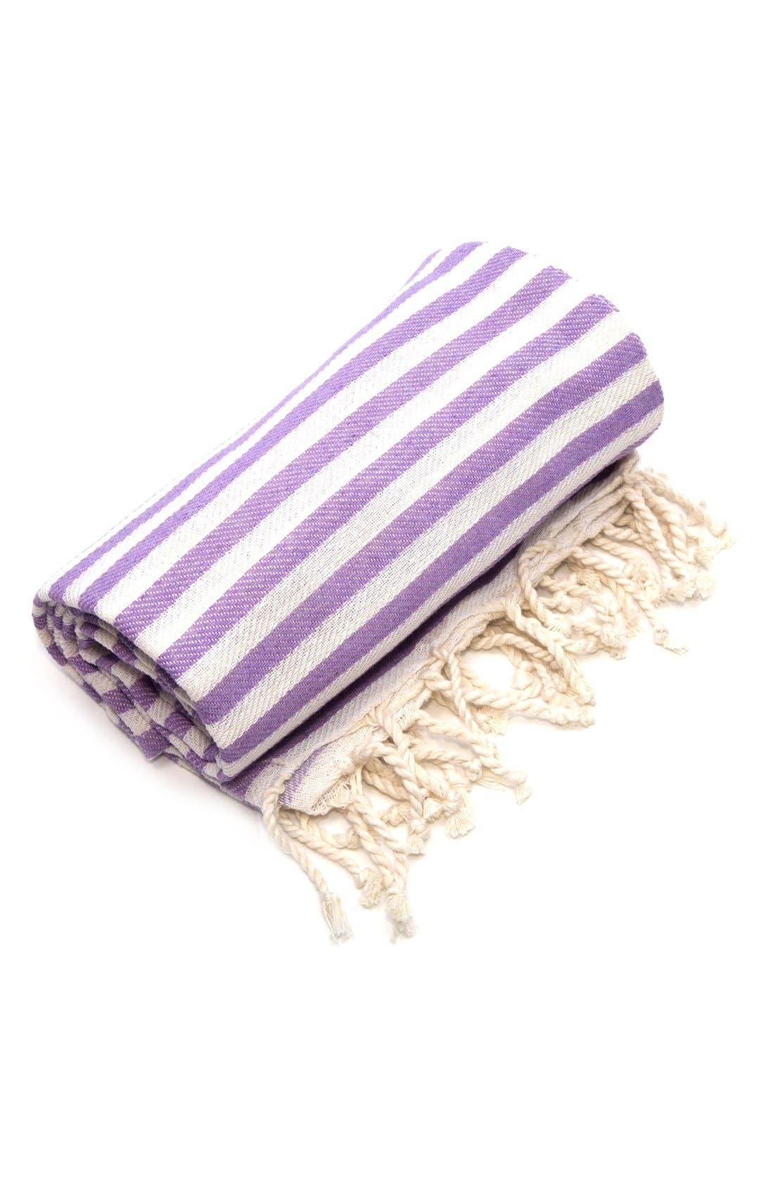 'Fun in the Sun' Turkish Pestemal Towel,                             Alternate thumbnail 2, color,                             Lilac