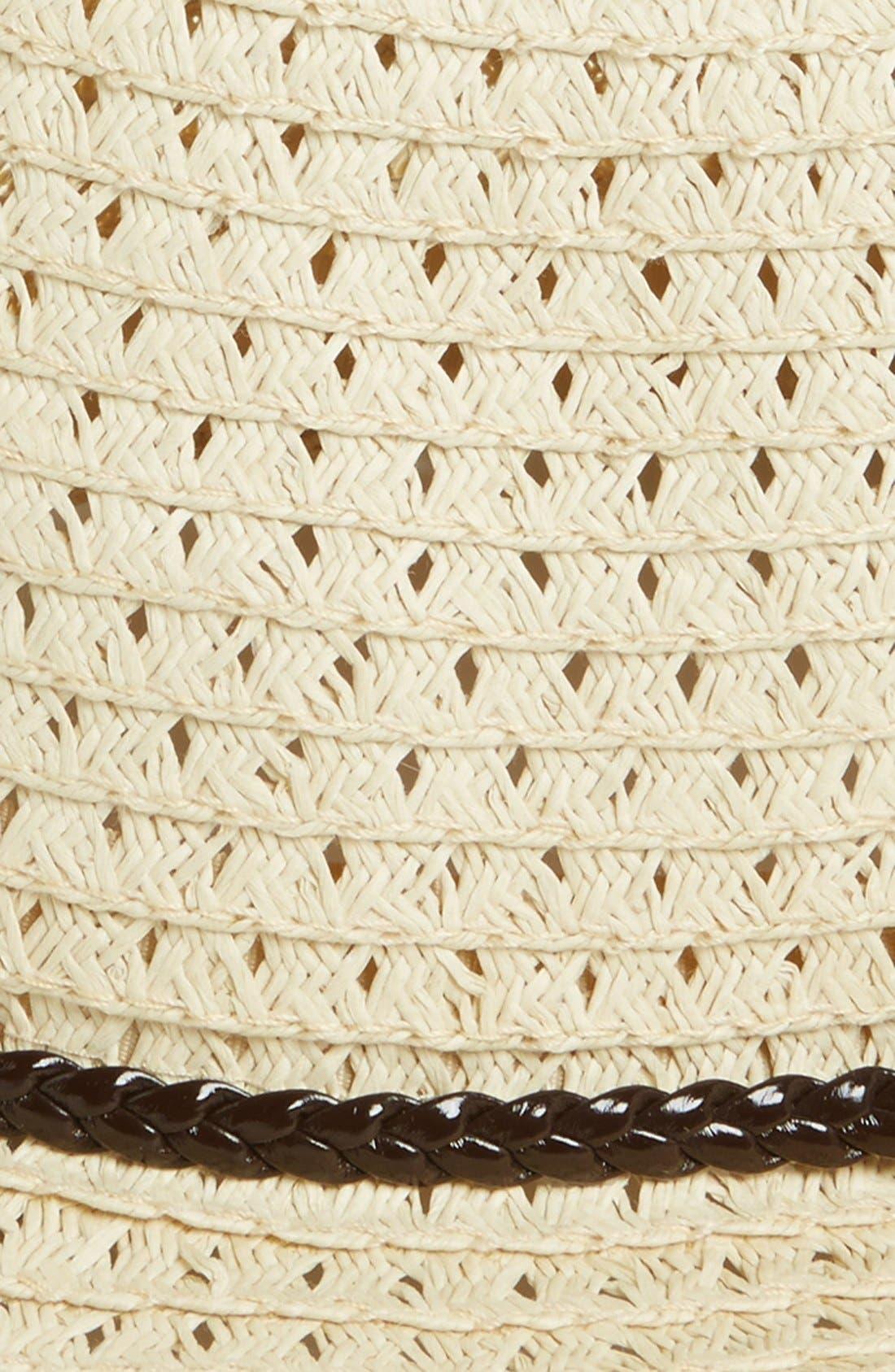 Alternate Image 2  - BP. Open Weave Straw Fedora