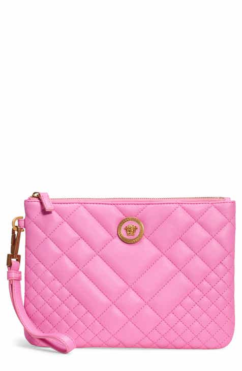 bb26a247e3 Versace Tribute Icon Quilted Leather Pouch