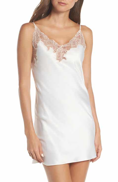 Natori Feather Lace Trim Chemise by NATORI