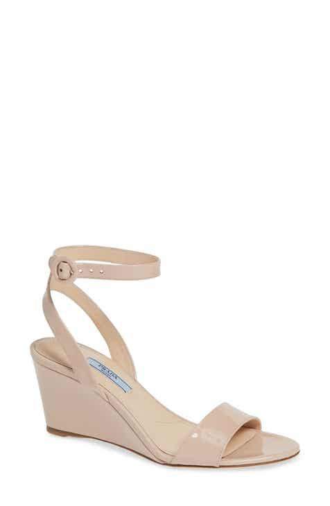 7019c288a4338 Prada Wedge Sandal (Women) (Nordstrom Exclusive). $690.00. Product Image. BLACK  LEATHER