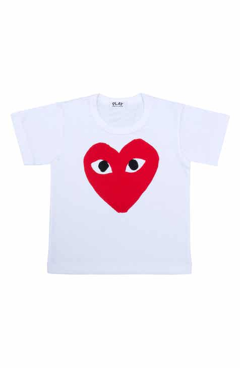 8be6e826 Comme des Garçons PLAY Heart Face Graphic T-Shirt (Toddler & Little Kid)