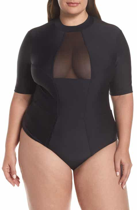 Chromat Tidal II Ilusion Detail One-Piece Swimsuit (Plus Size) by CHROMAT