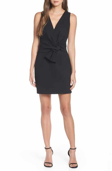 afb43a4c27a Adelyn Rae Gillian Tie Front Ponte Dress