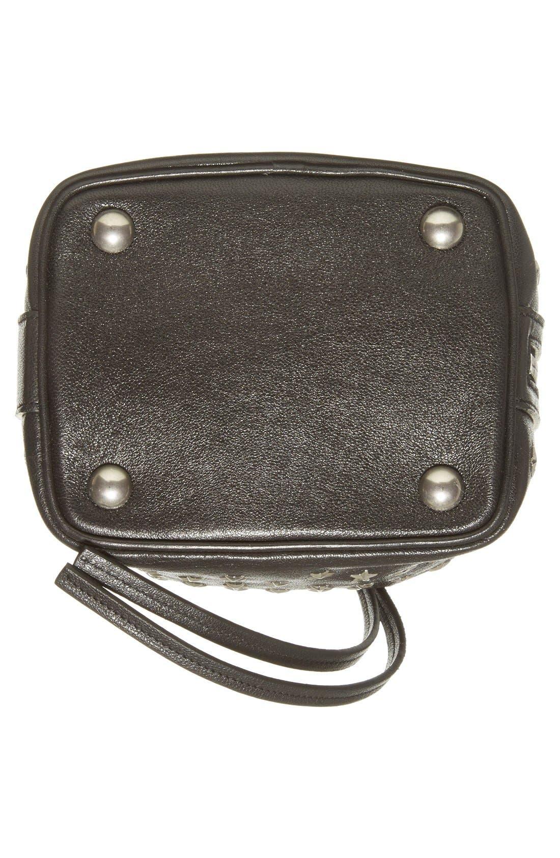 Alternate Image 6  - Saint Laurent Studded Small Leather Bucket Bag