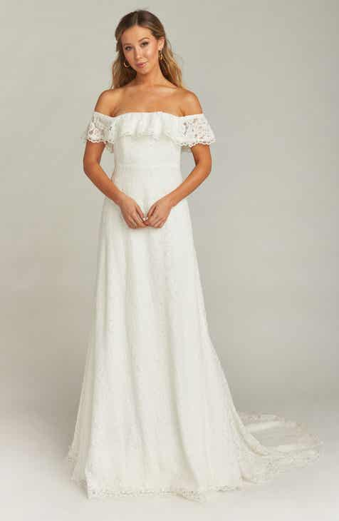 06fa7ac6694 Show Me Your Mumu Karolina Off the Shoulder Lace Wedding Dress