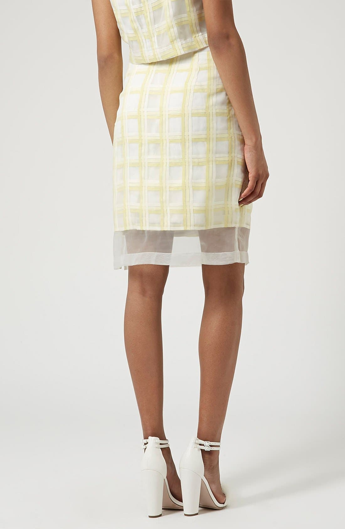 Alternate Image 3  - Topshop Flower Check A-Line Skirt (Limited Edition)