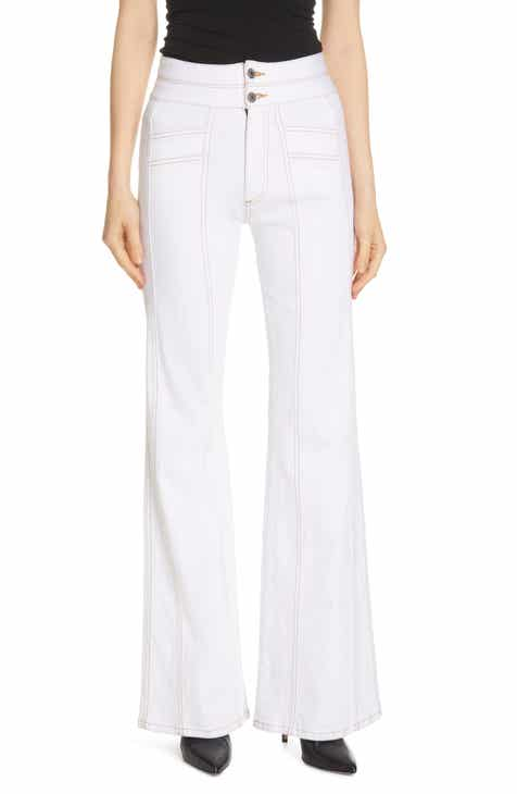 Re/Done Originals Crop Wide Leg Jeans (Bleach Light) by RE/DONE