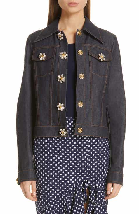 Michael Kors Jewel Button Denim Jacket By MICHAEL KORS by MICHAEL KORS Amazing
