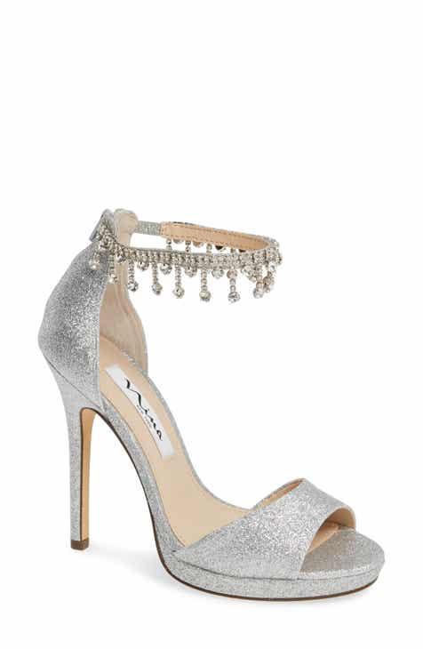 Nina Feya Embellished Ankle Strap Sandal (Women) 8b5e2abef69