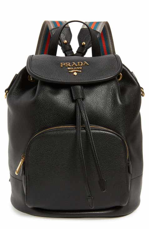 bbe2017b82 Prada Vitello Daino Pebbled Leather Backpack