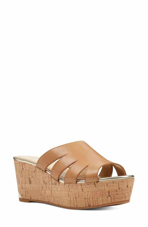 f9d4079155a Nine West Victoria Cutout Wedge Slide Sandal (Women)