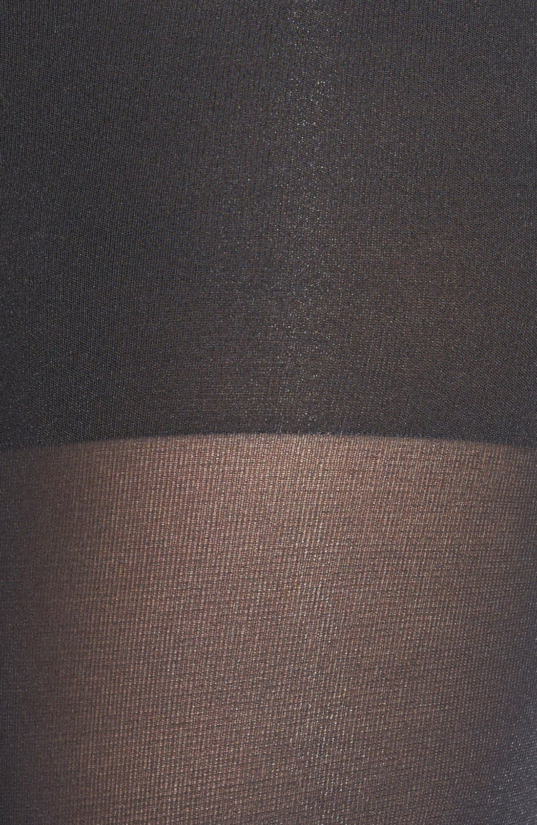 'Luxe' Leg Shaping Tights,                             Alternate thumbnail 2, color,                             Very Black