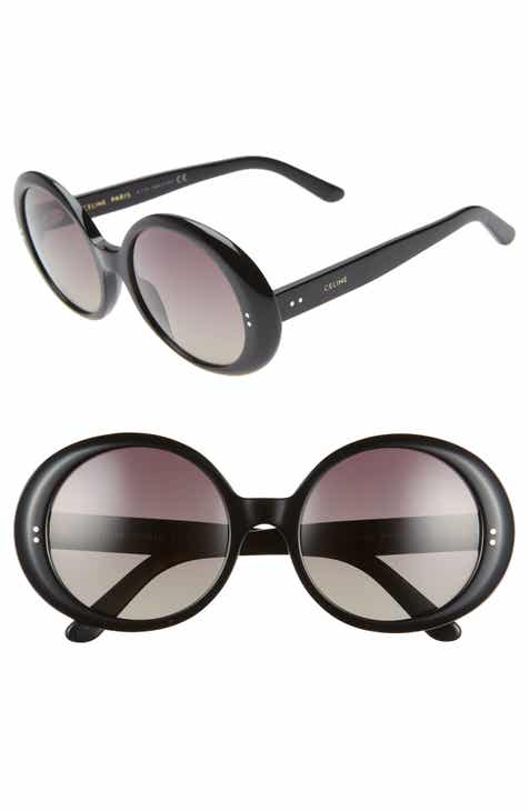 ffeaca86a79e CELINE 57mm Gradient Round Sunglasses