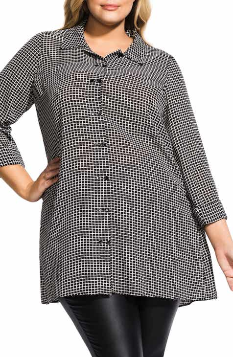 b2adef56ea9 City Chic Double Button Tunic Top (Plus Size)