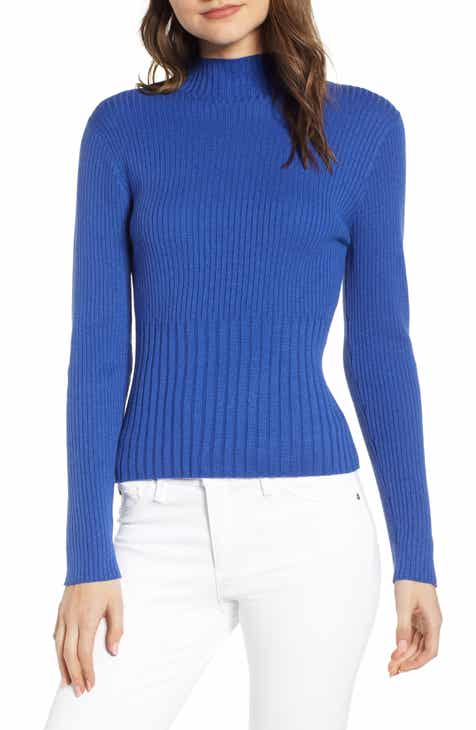 Chelsea28 Ribbed Mock Neck Pullover by CHELSEA28