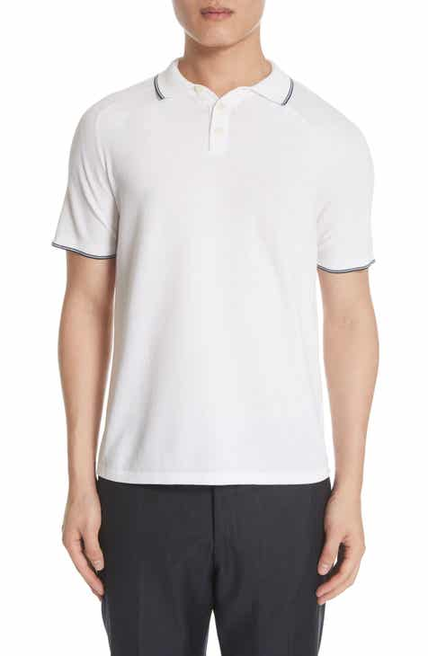 eab81efea74 Eleventy Tipped Polo Shirt