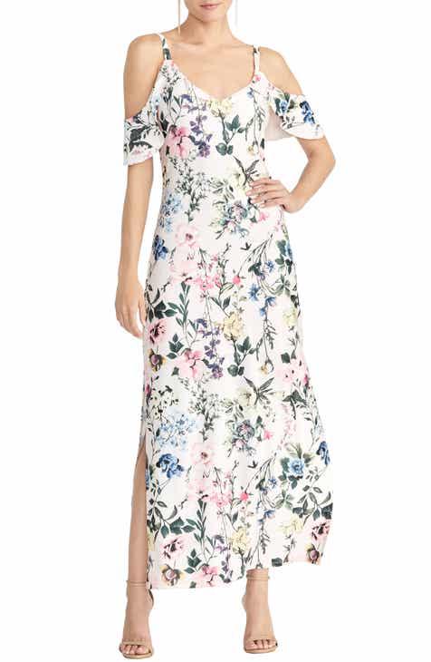a8a47db9e82133 RACHEL Rachel Roy Cold Shoulder Floral Maxi Sundress