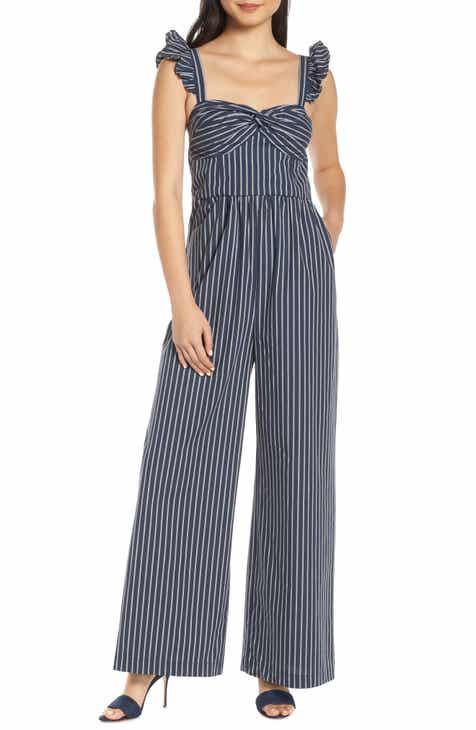 892fa2d67471 Chelsea28 Stripe Ruffle Jumpsuit (Regular   Petite)