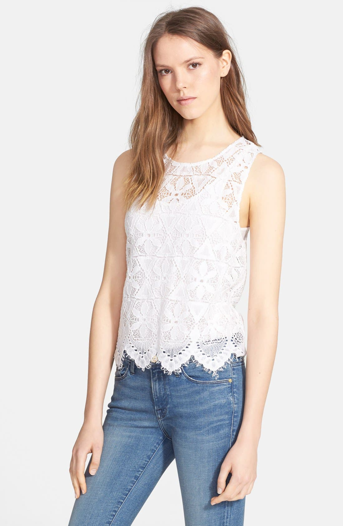 Alternate Image 1 Selected - Frame Denim 'Le Lace' Tank