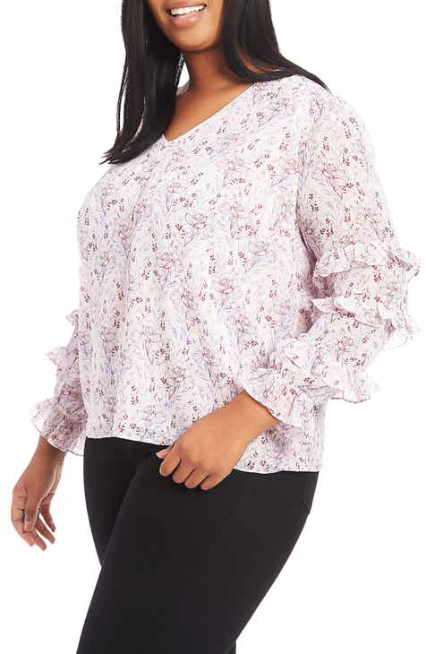 4448d0b00a498 STATE Bloomsbury Floral Ruffle Top (Plus Size)