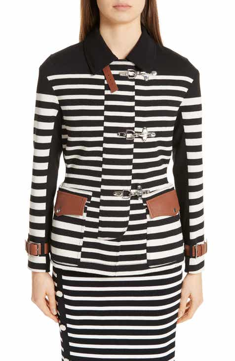 Altuzarra Leather Detail Stripe Jacket by ALTUZARRA
