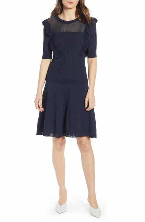 Scotch & Soda Ruffle Trim Pointelle Dress by SCOTCH AND SODA
