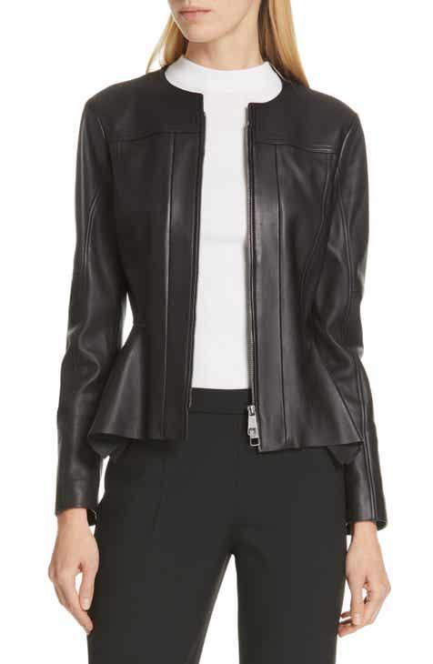 BOSS Sahada Leather Jacket by BOSS HUGO BOSS