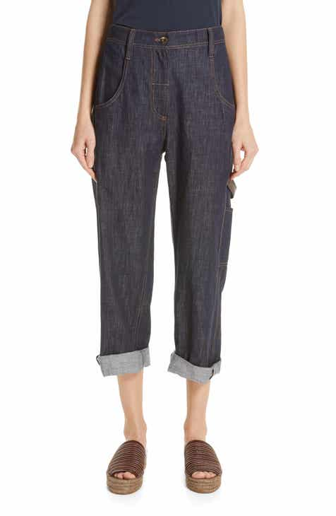 Brunello Cucinelli Crop Carpenter Jeans by BRUNELLO CUCINELLI