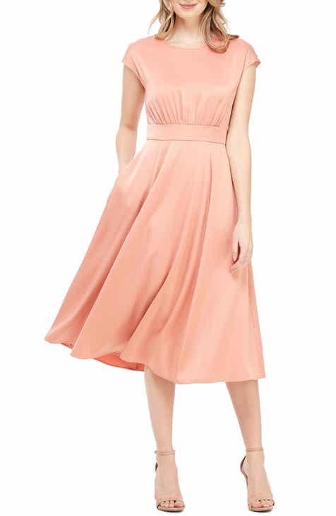 da7cbee3de Gal Meets Glam Collection Julia Crepe Back Satin Midi Dress (Regular    Petite)