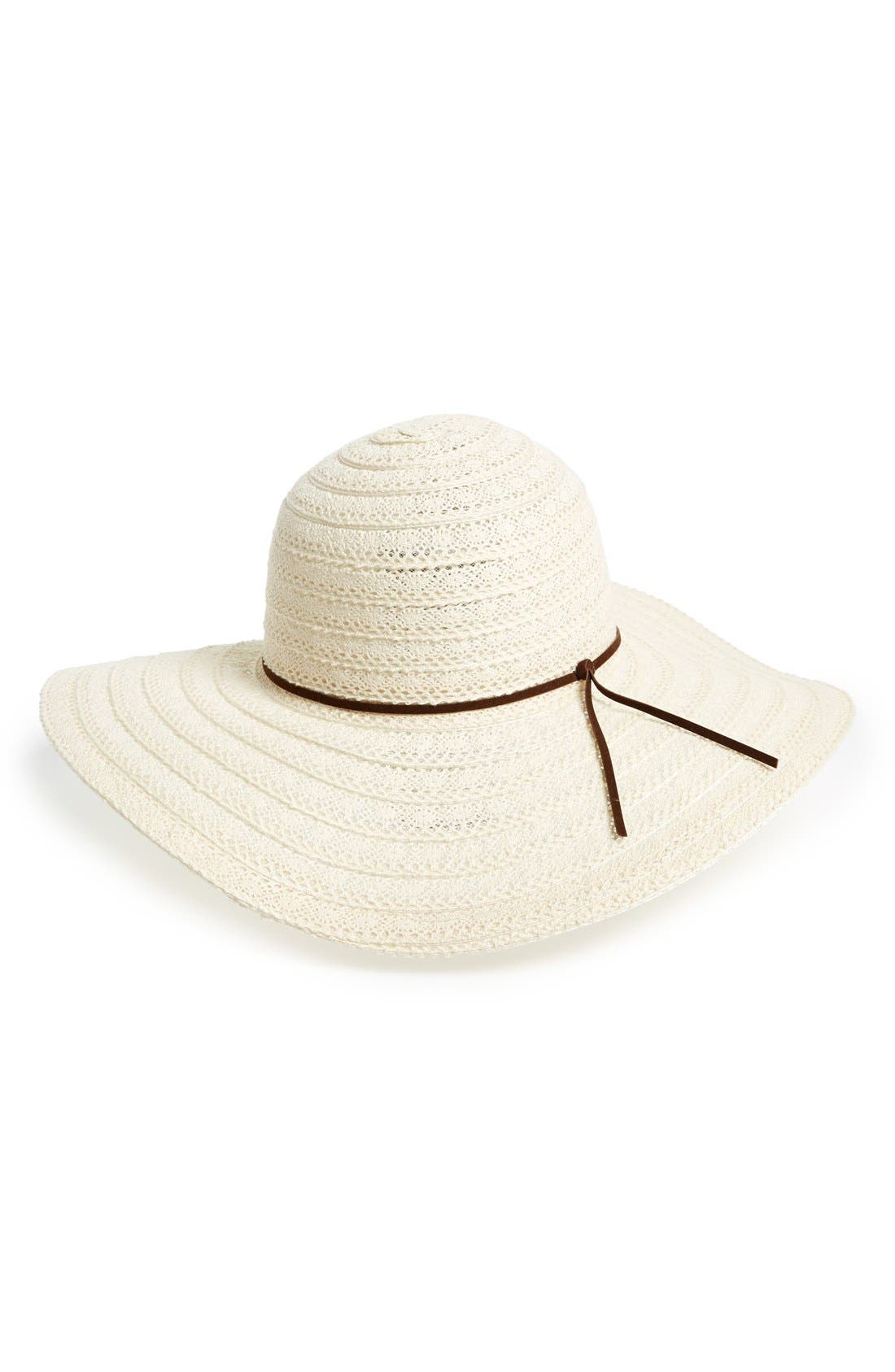 Alternate Image 1 Selected - Emanuel Geraldo Floppy Lace Hat