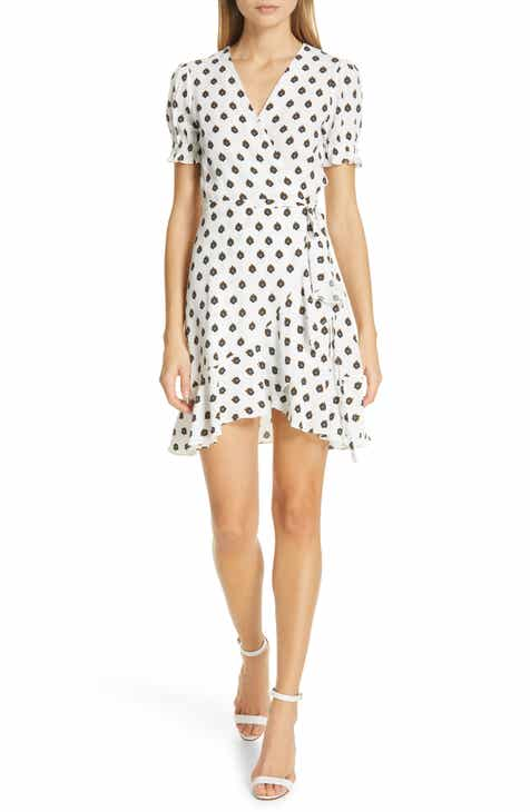 DVF Kelly Patterned Asymmetrical Wrap Dress by DVF