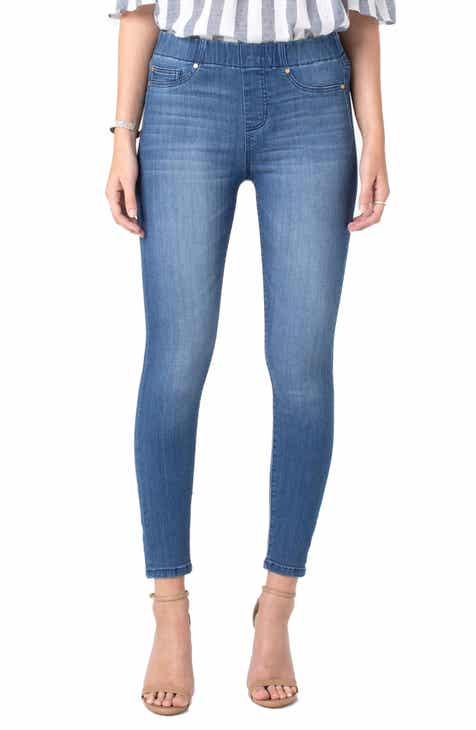 Liverpool Chloe Pull-On Ankle Skinny Jeans (Baxter) by LIVERPOOL