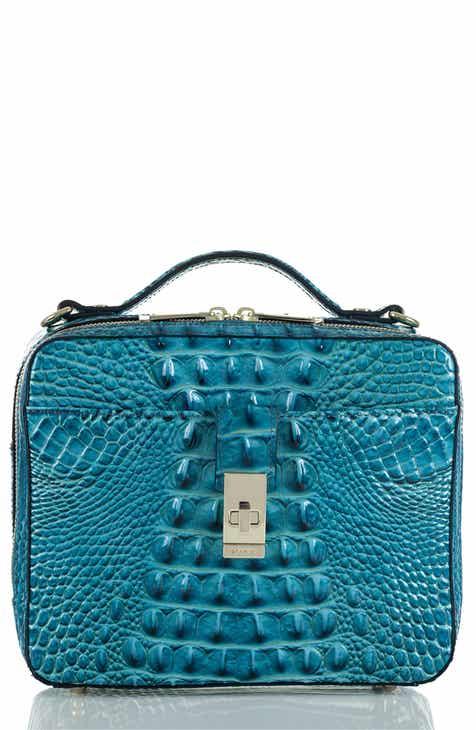 1763875264 Brahmin Evie Croc Embossed Leather Top Handle Bag